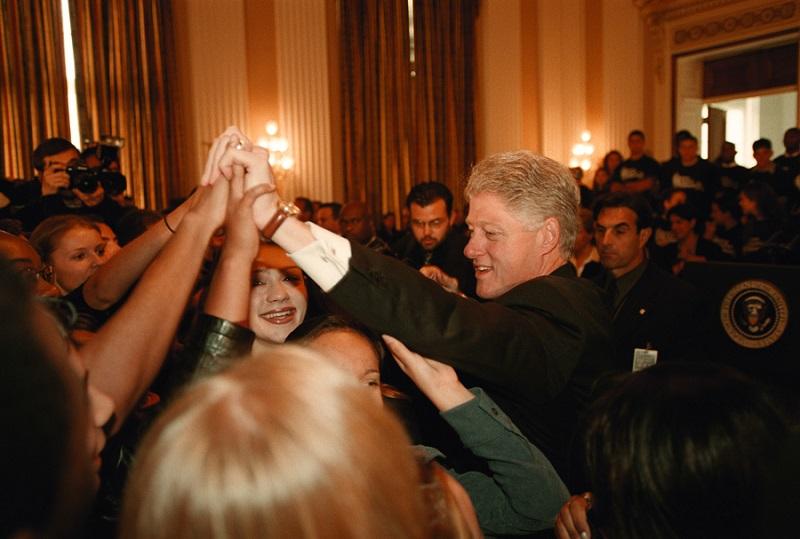 President Bill Clinton joins teens as he kicks off a