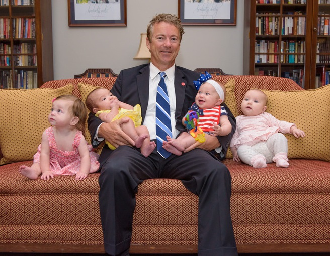 Sen. Rand Paul and the new additions. (Courtesy Rand Paul)