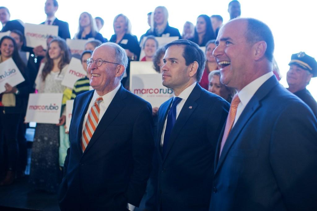 Feb. 29, 2016: Rubio, center, Tennessee Sen. <a class=