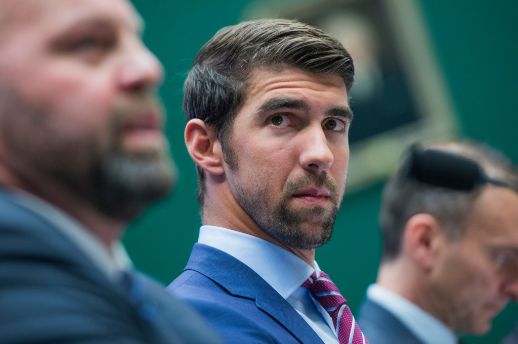 Olympic gold medalist Michael Phelps appeared before a House Energy and Commerce Subcommittee on Oversight and Investigations. (Photo By Tom Williams/CQ Roll Call)