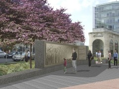 Concept design for the memorial, courtesy of the Ukrainian Congress Committee of America.