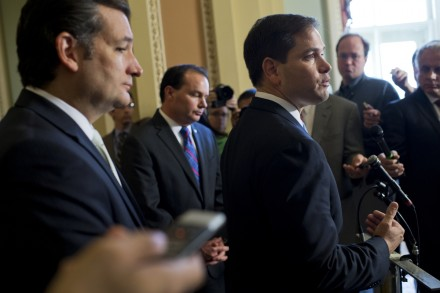 Cruz, left, and Rubio, right, both introduced measures targeting D.C. laws. (Tom Williams/CQ Roll Call File Photo)