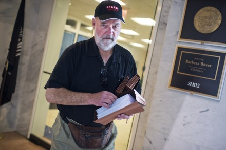 Lane was on the Hill Wednesday to deliver Hughes' letter. (Tom Williams/CQ Roll Call)