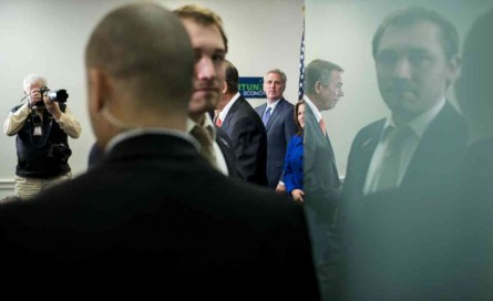 Republicans are waiting for leadership to finalize a DHS funding strategy. (Bill Clark/CQ Roll Call File Photo)
