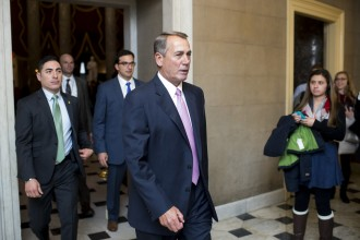 Speaker of the House John Boehner, R-Ohio, walks back to his office after leaving the House floor on Tuesday, March 3, 2015. (Photo By Bill Clark/CQ Roll Call)