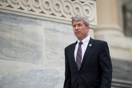 Schrader, D-Ore. walks down the House steps following votes in the Capitol on Wednesday, March 25, 2015. (Photo By Bill Clark/CQ Roll Call)