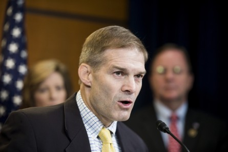 UNITED STATES - JULY 16: Rep. Jim Jordan, R-Ohio, speaks during the Republican Study Committee news conference to