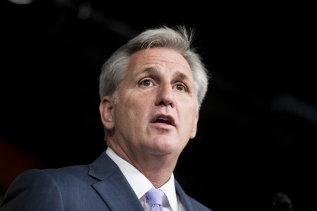 UNITED STATES - NOVEMBER 13: House Majority Leader Kevin McCarthy, R-Calif., participates in the press conference announcing House GOP leadership for upcoming session of Congress  on Thursday, Nov. 13, 2014. (Photo By Bill Clark/CQ Roll Call)