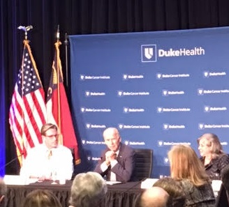 DURHAM, N.C. -- Vice President Biden (center) speaks during a roundtable about his cancer