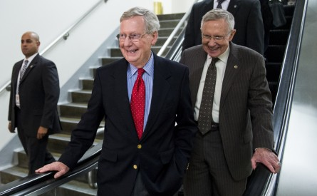 reid mcconnell 163 091114 445x275 Nuclear Option Helped Obama Refashion Bench