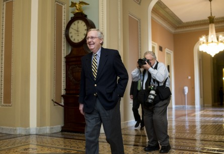 McConnell has led Senate Republicans into infrequently backing Obama, CQ vote studies reveal. (Bill Clark/CQ Roll Call File Photo)