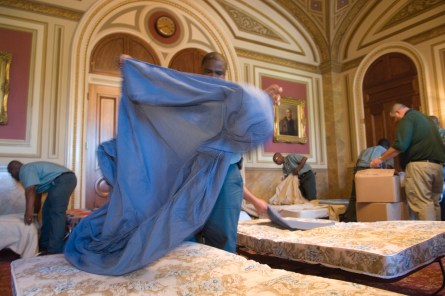 Member of Congress who sleep in their offices are getting a nice little taxpayer benefit. (CQ Roll Call File Photo)