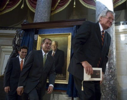 Hastert, right, and Boehner, seen here in 2009, have very different speakership styles. (CQ Roll Call File Photo)
