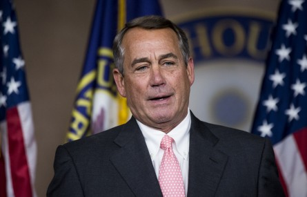 UNITED STATES - SEPTEMBER 25: Speaker of the House John Boehner, R-Ohio, holds a news conference on Friday, Sept. 25, 2015, to discuss his decision to resign his position as Speaker and leave Congress at the end of October. (Photo By Bill Clark/Roll Call/Pool)