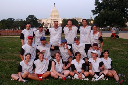 Roll Call's softball team from the early 2000s.