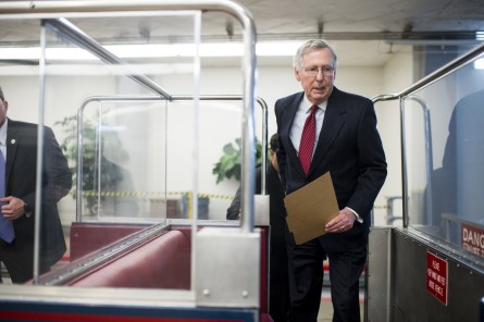 McConnell hopes to pass a bipartisan No Child Left Behind rewrite after last month's trade triumph. (Bill Clark/CQ Roll Call File Photo)