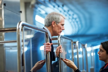 Portman took an unusual route to backing the fast-track trade bill. (Tom Williams/CQ Roll Call)