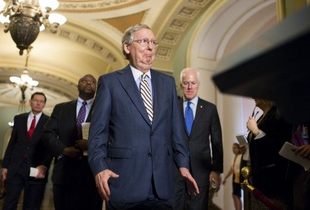 McConnell laid out a path for a long-term highway bill and the Ex-Im Bank to reach Obama's desk before the August recess. (Bill Clark/CQ Roll Call File Photo)