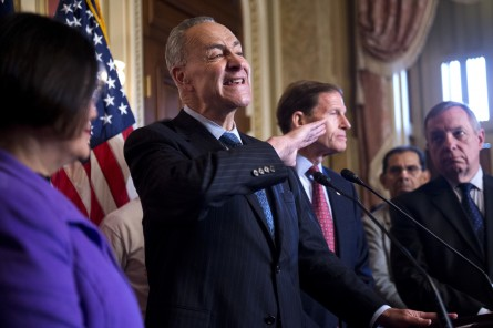 Could Schumer face a leadership challenge over the Iran deal? (Tom Williams/CQ Roll Call File Photo)