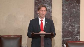 Sasse speaks from the Senate floor Tuesday. (CQ Floor Video)