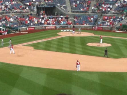The Nationals fielded several young players. (Jason Dick/CQ Roll Call)