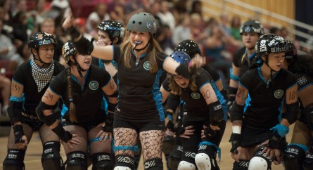 The DC Rollergirls are lending a helping hand with The Fridge DC for the benefit of Frager's Hardware. (Bill Clark/CQ Roll Call File Photo.)