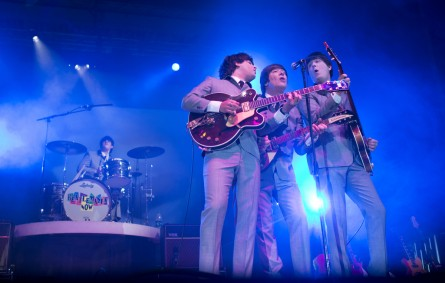 Beatlemania Now, a Fab Four tribute band, played 50 years on. (Tom Williams/CQ Roll Call)
