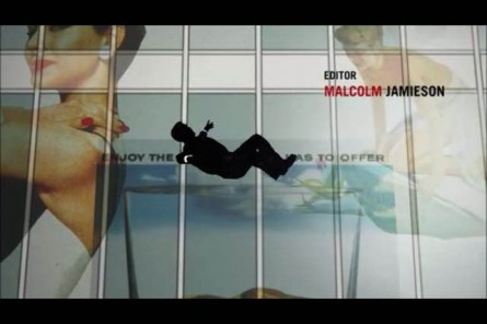 Wolff worked on the White Rock Ginger Ale account, seen at the upper right of the this screenshot from the opening credits of