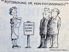 A cartoon featured in the November 22, 1987 edition of Roll Call