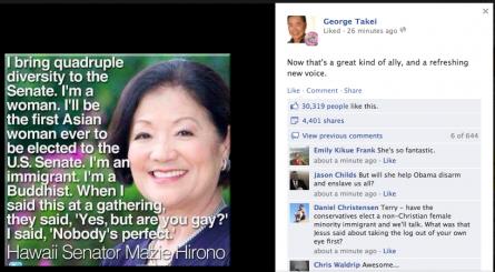 George Takei showcases Mazie Hirono