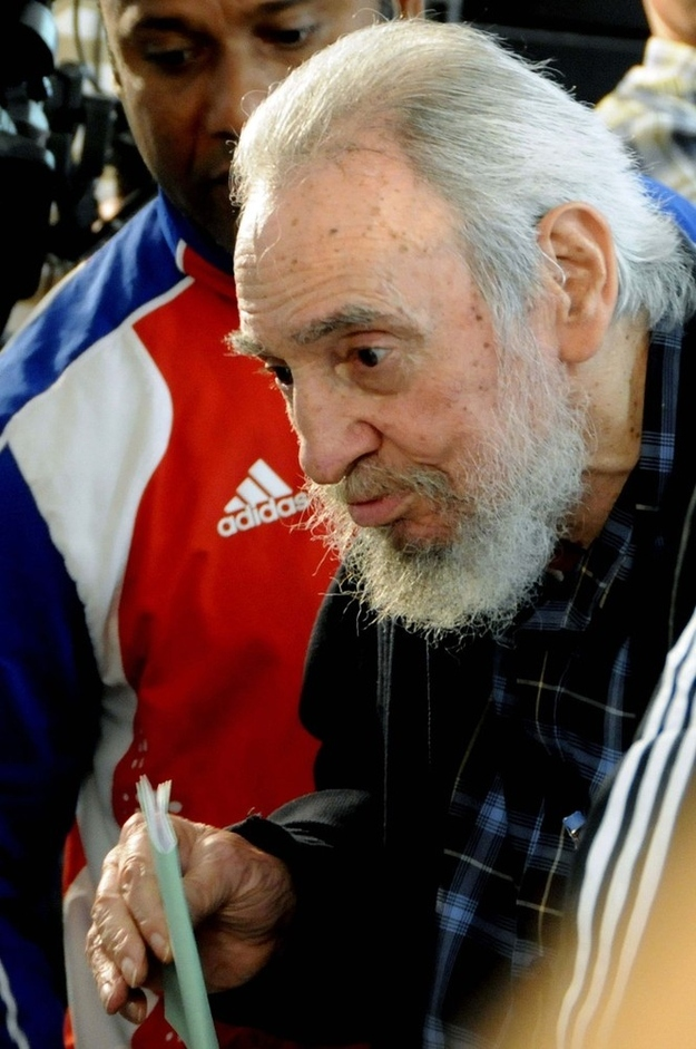 Fidel Castro steps out
