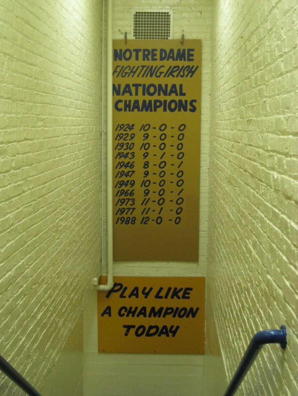 Notre Dame locker room