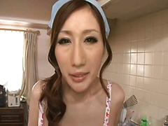 Beautiful Naked Housewife Gets Fucked In The Kitchen Asian kitchen pov (point of view)