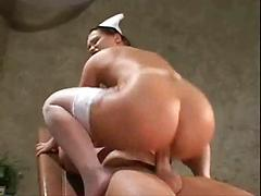 Nurse in white stockings fucks patient and gets a facial Hardcore nurse pornstars