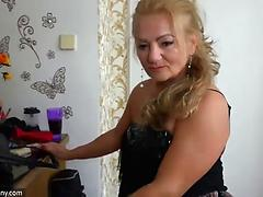 Massive mature amateur relaxes in bed and masturbates pussy Mature mature amateur
