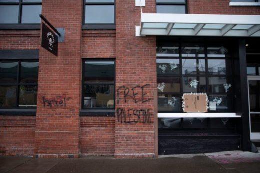 Restaurantes vandalizados en Portland