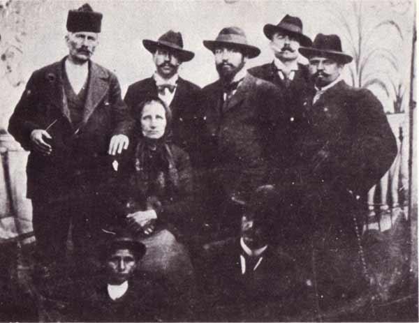 Dona Kovacheva, Marko Sekulichki, Goce Delcev, Mihail Gerdzhikov, Petko Penchev and Todor Stankov - Kjustendil, 1902.