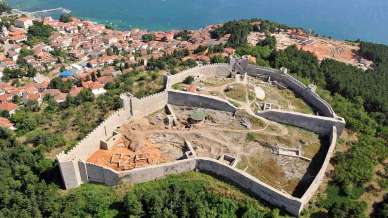 King Samoil's fortress in Ohrid, Macedonia.