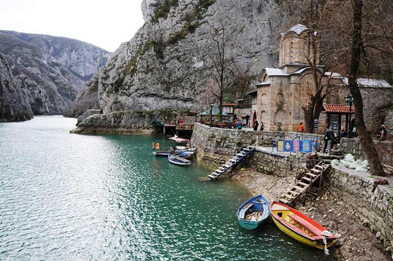 St. Andrew's Monastery is located on Lake Matka, 17 km away from Skopje.
