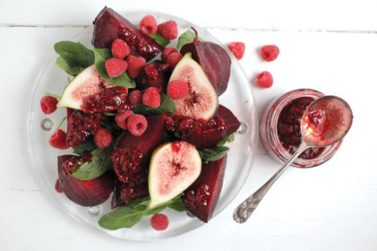 Beetroot Salad With Fig & Smashed Raspberry Dressing