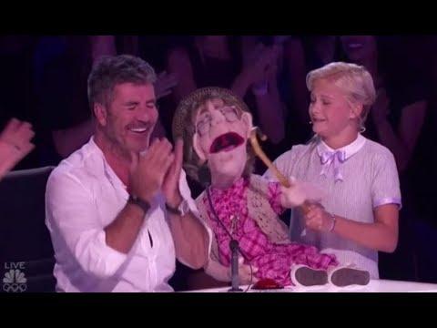美國達人秀 12歲腹語少女 Darci Lynne 與他的老太太腹語娃娃 (Darci Lynne: Her Naughty Old-lady Puppet 'Edna' Makes Simon Cowell ...