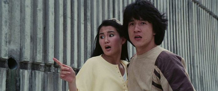 Jackie Chan in a screencap from Police Story