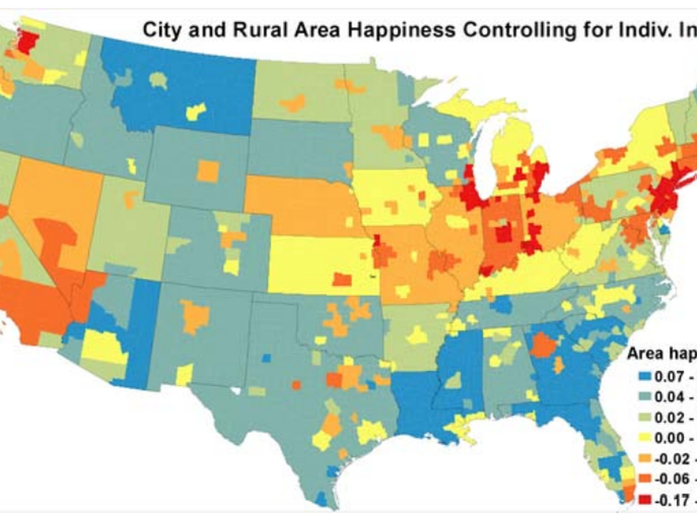 Map The Happiest Places In America Vox
