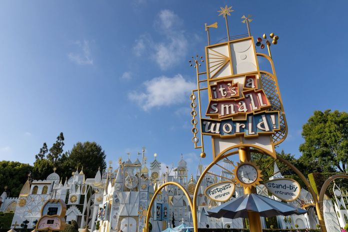 """The entrance to """"It's a Small World"""" in Disneyland, CA"""