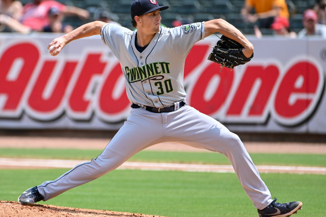 Gwinnett Stripers pitcher, Kyle Wright (30) in action during...