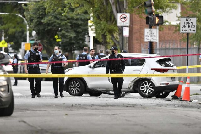 Four people, including a child, were shot on the South Side Monday, Sept, 7, 2020.