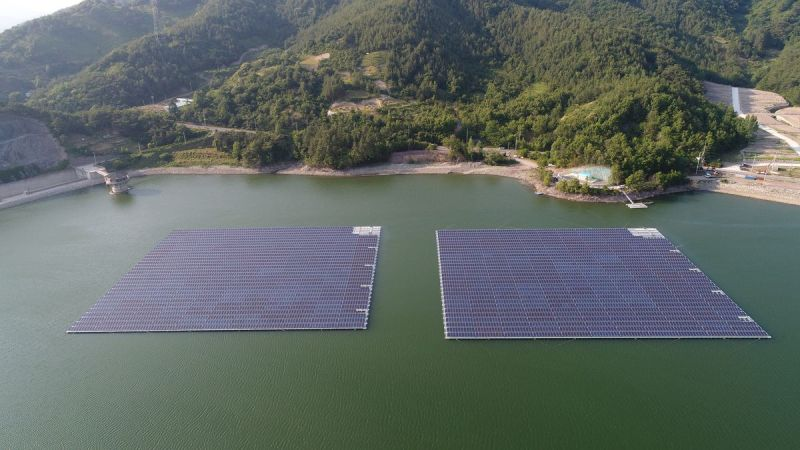 The Geumjeon floating solar power plant, in South Korea.
