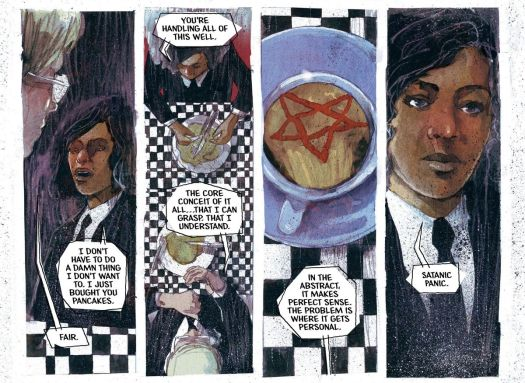 Cole explains that what he now knows, as an agent of the Department of Truth, has a personal component for him: The Satanic Panic, in The Department of Truth #2, Image Comics (2020).