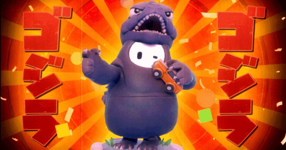 Fall Guys' adorable new Godzilla skin will let you become an actual bean-grappling monster