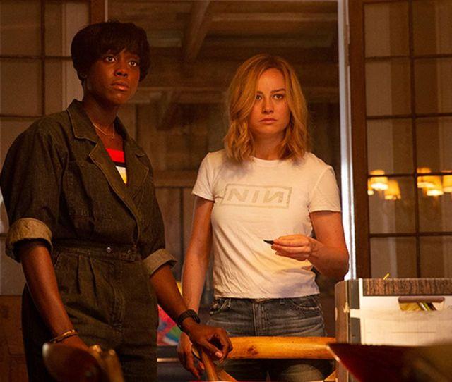 Brie Larson Right As Carol Danvers And Lashana Lynch As Maria Rambeau In Captain Marvel Marvel Studios